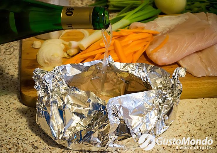 preparing oven baked zander