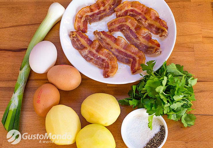 crispy bacon frittata ingredients