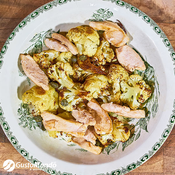 roasted cauliflower and chicken recipe