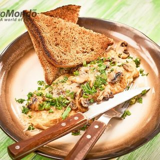 Mushroom and cheese omelette recipe